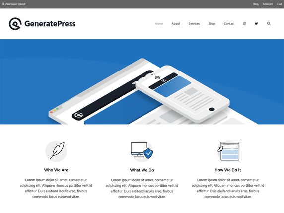 free wordpress theme generatepress